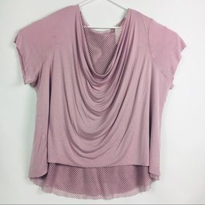 Livi Active Lane Bryant Size 22-24 Mauve Mesh Top